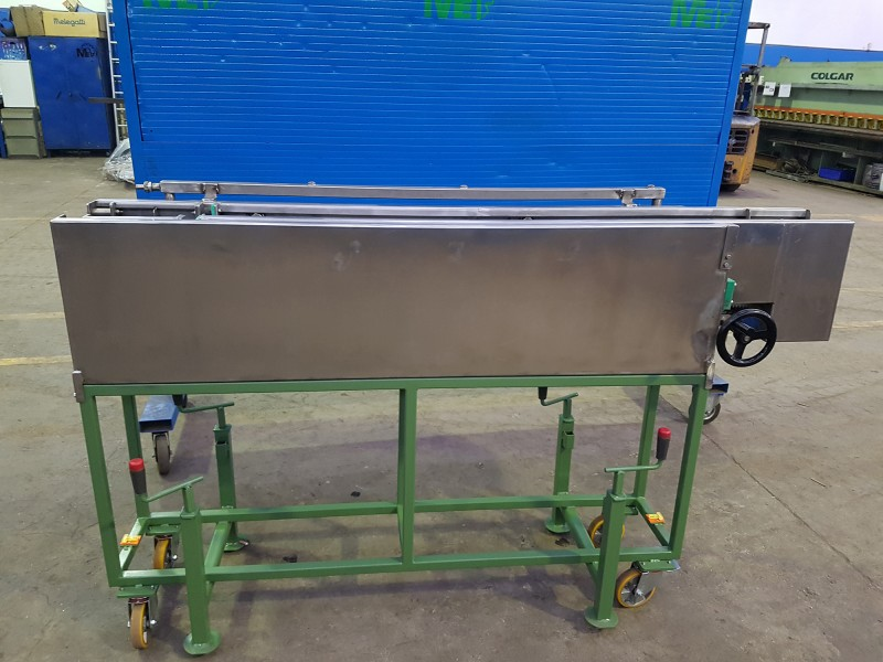 Vasca inox regolabile raffreddamento cavo | Dettaglio 1