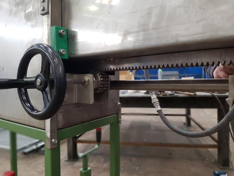 Vasca inox regolabile raffreddamento cavo | Dettaglio 2