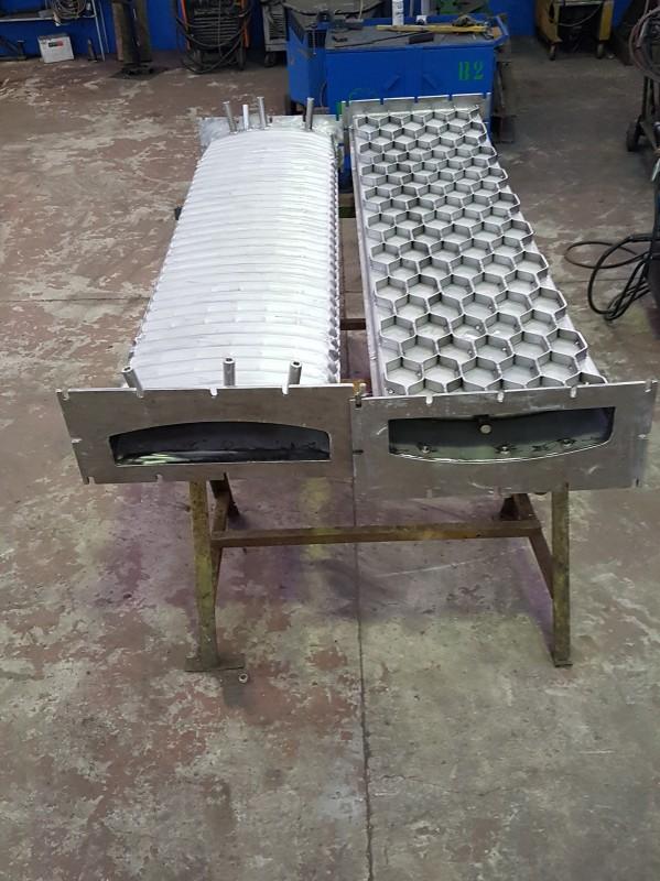 Muffola per forno, pressopiegata e saldata in acciaio AISI 310   Dettaglio 6