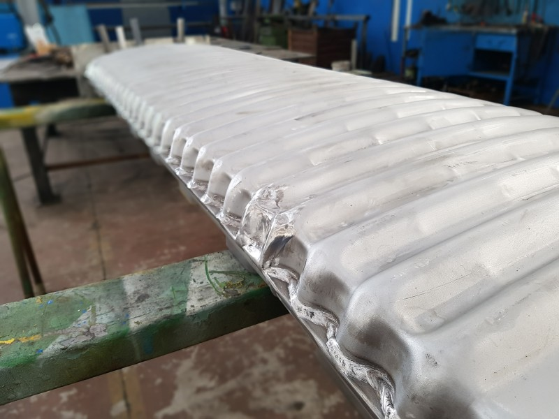 Muffola per forno, pressopiegata e saldata in acciaio AISI 310   Dettaglio 1