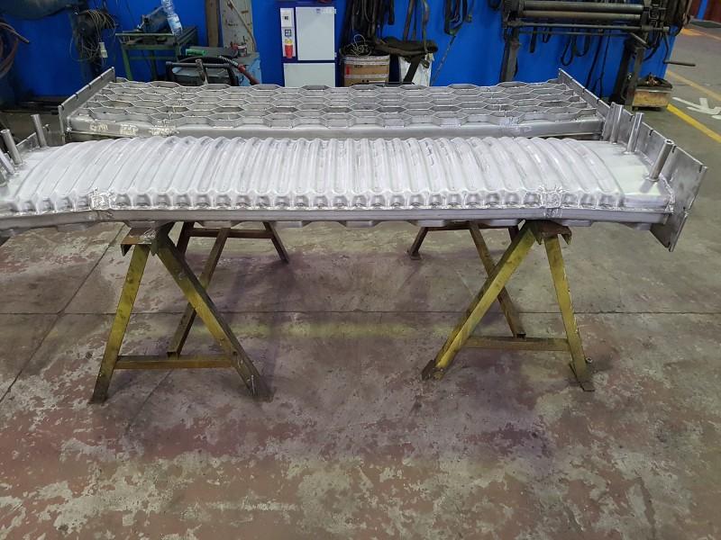 Muffola per forno, pressopiegata e saldata in acciaio AISI 310   Dettaglio 2