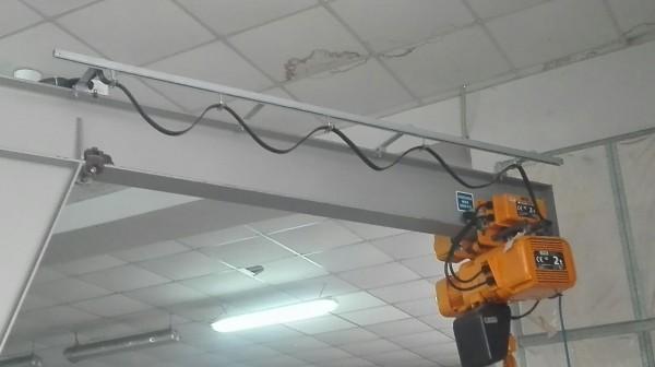 Installazione protezioni con paranco elettrico | Dettaglio 2