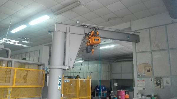 Installazione protezioni con paranco elettrico | Dettaglio 3