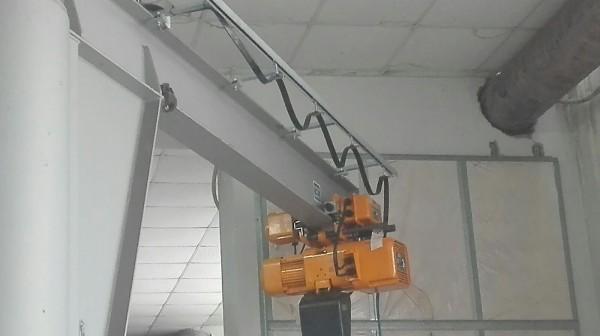 Installazione protezioni con paranco elettrico | Dettaglio 7